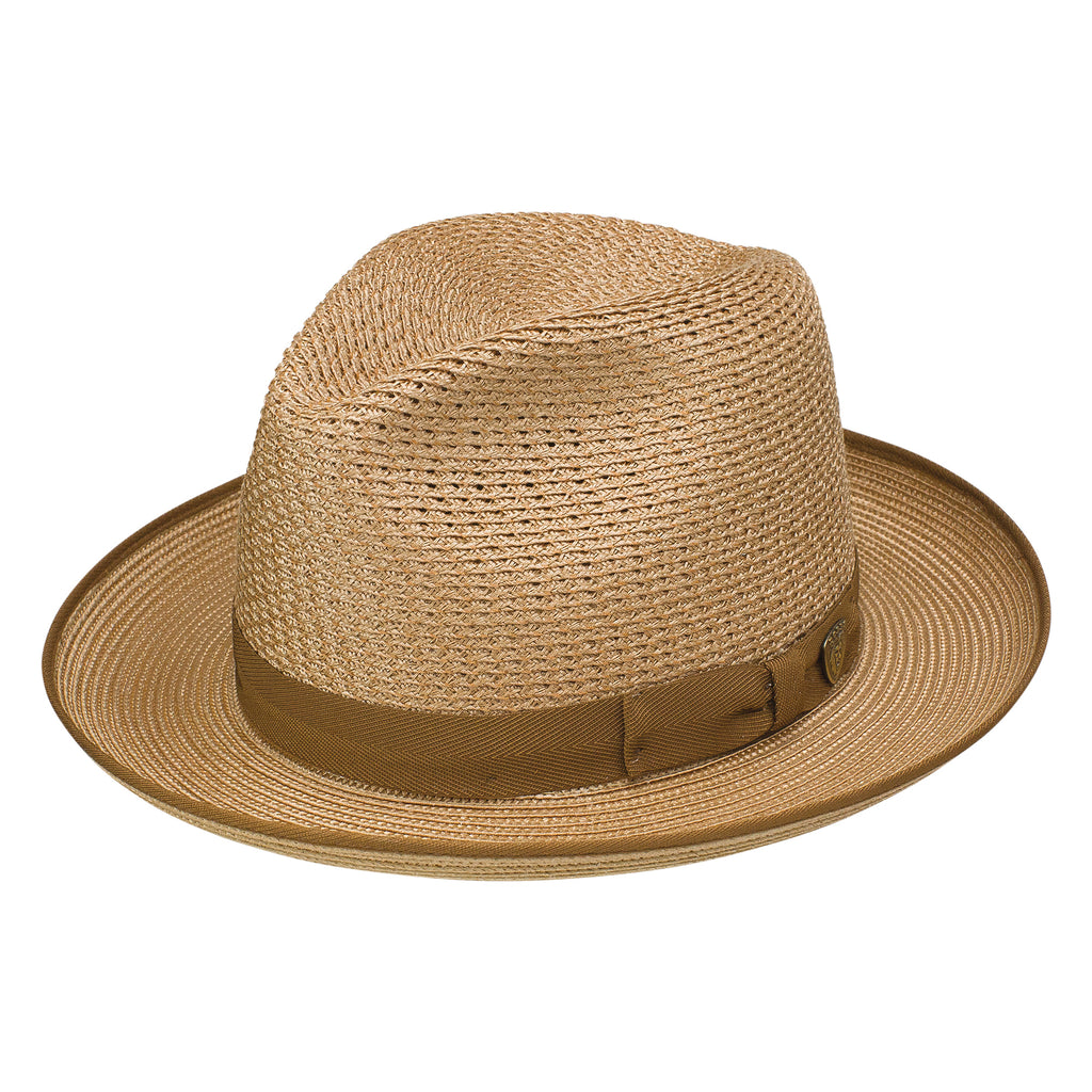 Regalis Straw Fedora by Dobbs