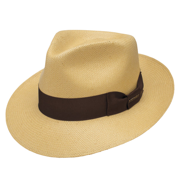 Adventurer Shantung Straw Fedora by Stetson