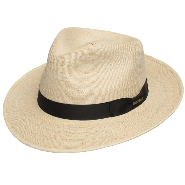 Rushmore Stiff Palm Straw Fedora by Stetson