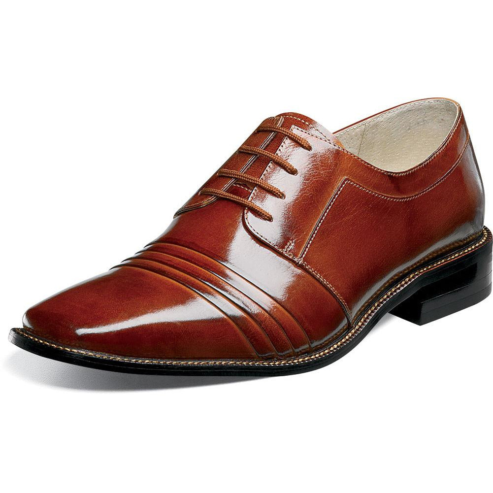 Raynor Cap Toe Oxford by Stacy Adams Cognac / 7, Shoes - STACYADAMS, Levine Hat Co. - 2