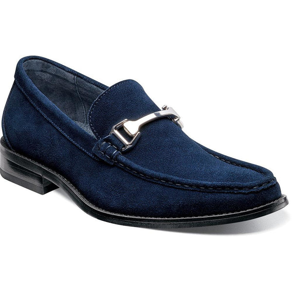 Flynn Moc Toe Bit Slip-on NAVY / 7, Shoes - STACYADAMS, Levine Hat Co. - 1