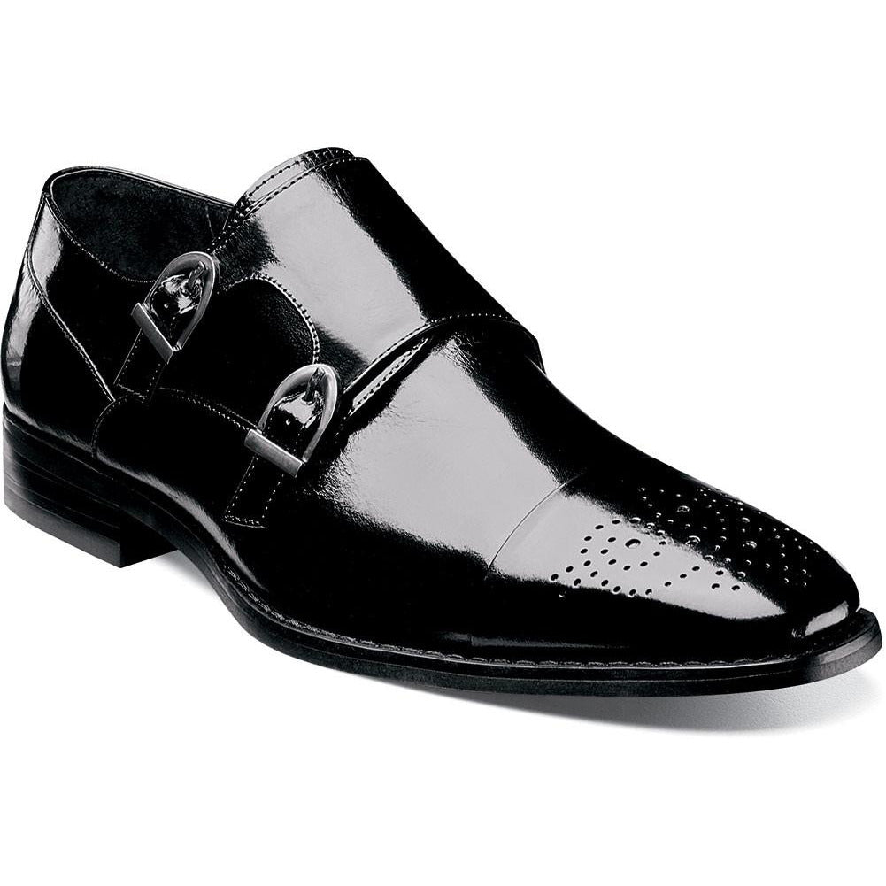 Trevor Cap Toe Monk Strap by Stacy Adams Black / 7, Shoes - STACYADAMS, Levine Hat Co. - 3