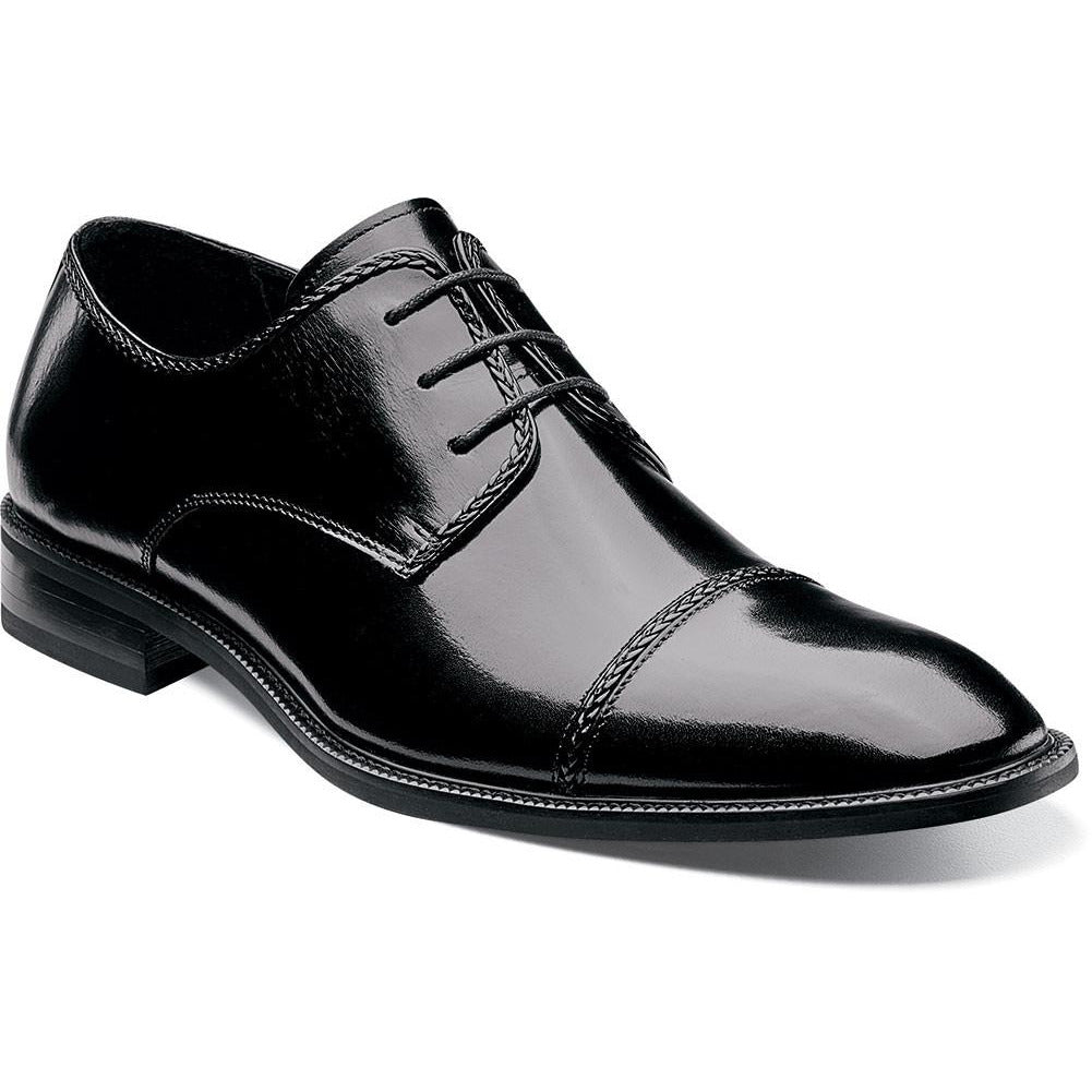 Brayden Cap Toe Oxford By Stacy Adams BLACK / 7, Shoes - STACYADAMS, Levine Hat Co. - 6