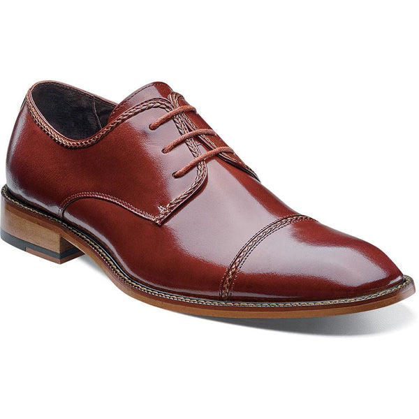 Brayden Cap Toe Oxford By Stacy Adams COGNAC / 7, Shoes - STACYADAMS, Levine Hat Co. - 1