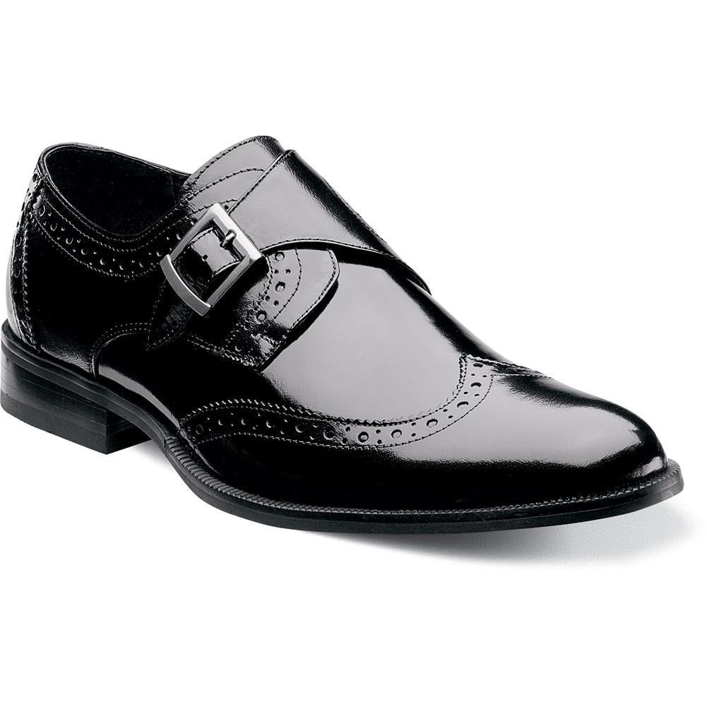 Stratford wing tip monk strap by Stacy Adams BLACK / 7, Shoes - STACYADAMS, Levine Hat Co. - 6