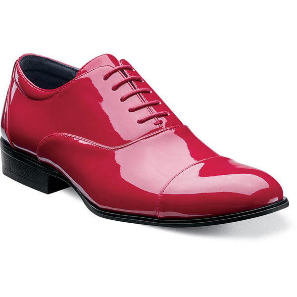 Gala Cap Toe Oxford by Stacy Adams RED / 6, Shoes - STACYADAMS, Levine Hat Co. - 1
