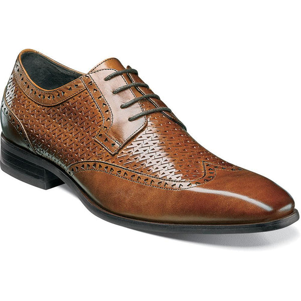 Melville Wingtip Oxford COGNAC / 7, Shoes - STACYADAMS, Levine Hat Co. - 1