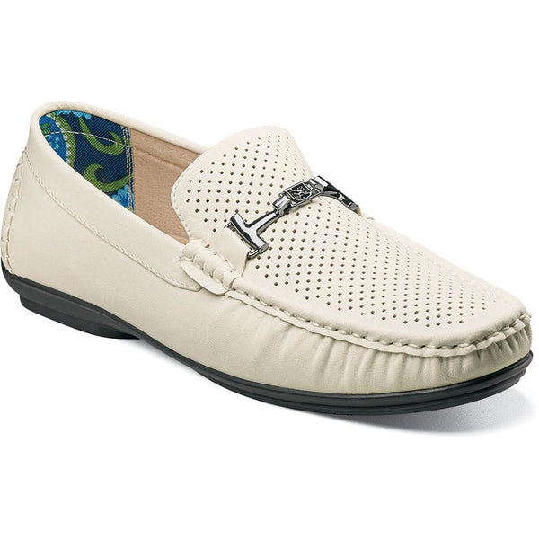 Pomp moc toe bit slip-on driver by Stacy Adams WHITE / 7, Shoes - STACYADAMS, Levine Hat Co. - 1