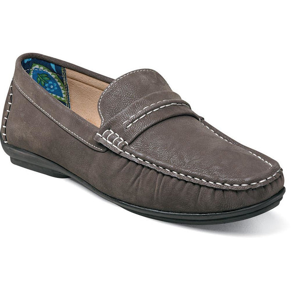 Park Moc Toe Saddle Slip-on by Stacy Adams GREY / 7, Shoes - STACYADAMS, Levine Hat Co. - 1