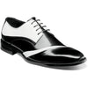 Stacy Adams Talmadge Folded Vamp Oxford BLACK/WHITE