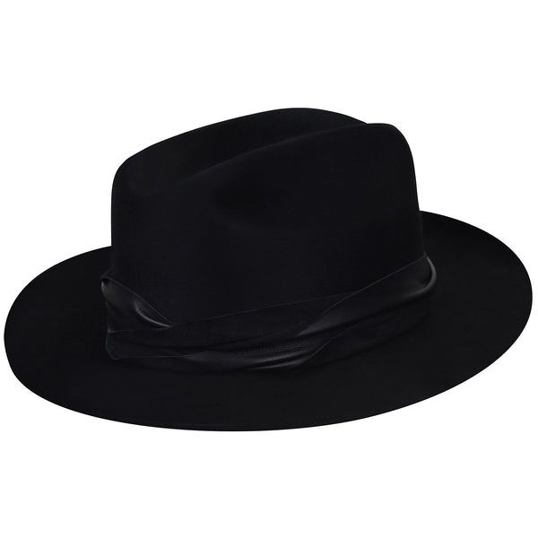 "Bailey ""Boss"" Wool Felt Western Hat BLACK 3/4 view"