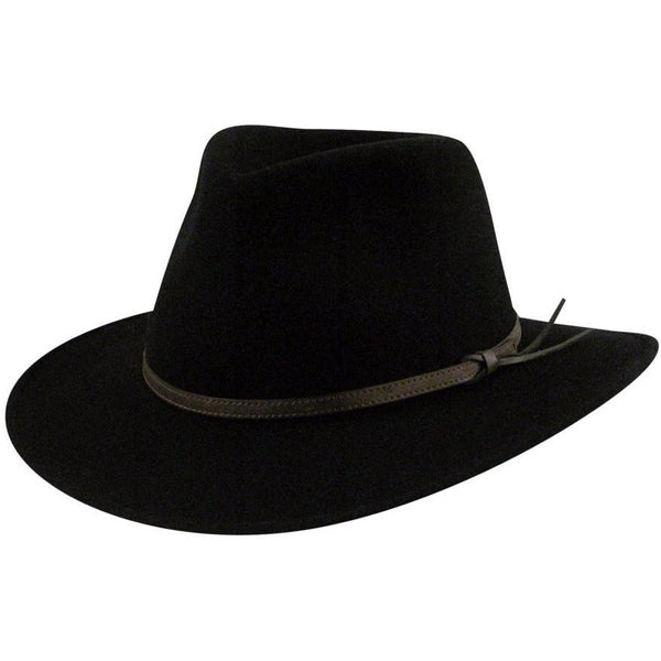 Country Gentleman Outback BLACK / L, HATS - COUNTRYGENT, Levine Hat Co.