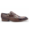 Cotto Ostrich Cap Toe Double Monkstrap