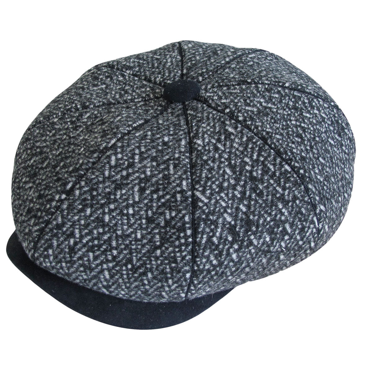 Overton Tweed 8-Panel Cap by Dobbs – Levine Hat Co. 37232bd5a32