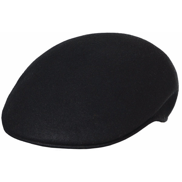 Scala Felt Ascot Cap BLACK / L, HATS - SCALA, Levine Hat Co. - 1