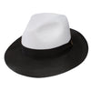 Toledo Two-Tone Straw Fedora by Dobbs