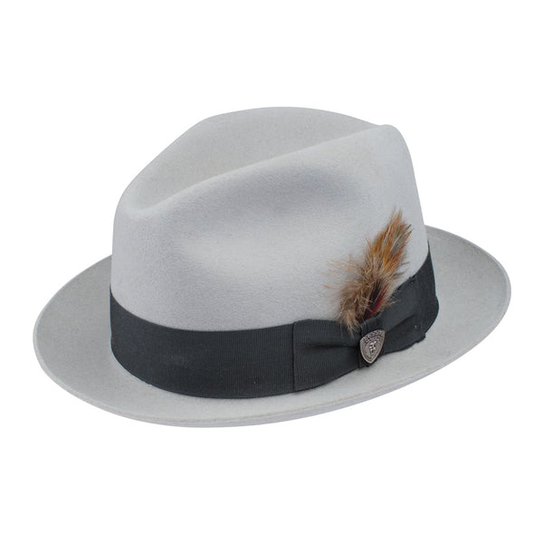 ee92b173cb2 GREY   BLACK. Barrington Wool Center Dent Fedora by Dobbs
