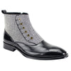 Edison Side Zipper Tweed Spat Boot