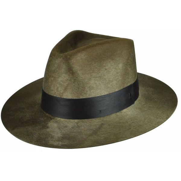 Hillman Flat Brim Polished Heavy Weight Fedora