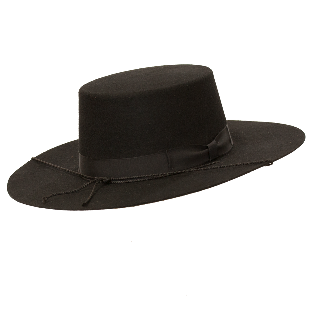 Bolero Wide Brim Flat Crown Hat by Levine Hats