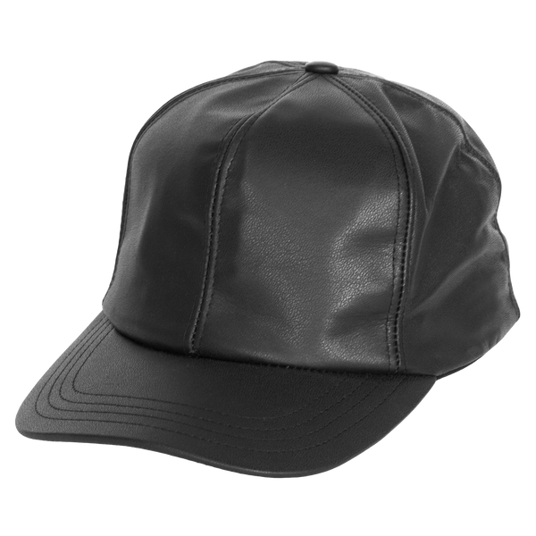 Fitted Genuine Leather Baseball Cap by Levine Hat Co.