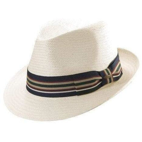 Scala Toyo Fedora W/ Stripe Ribbon