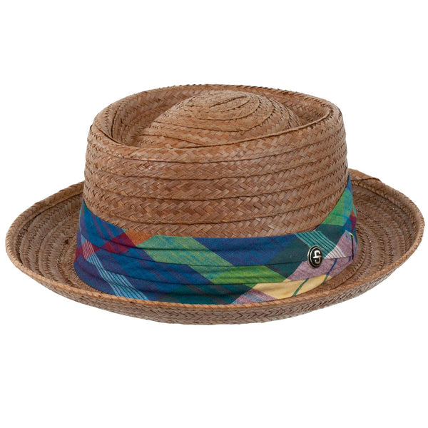 "Stetson ""Madrigal"" Coconut Straw Pork Pie BROWN"