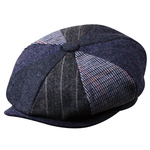 8-Quarter Panel Patchwork Newsboy Cap by Broner
