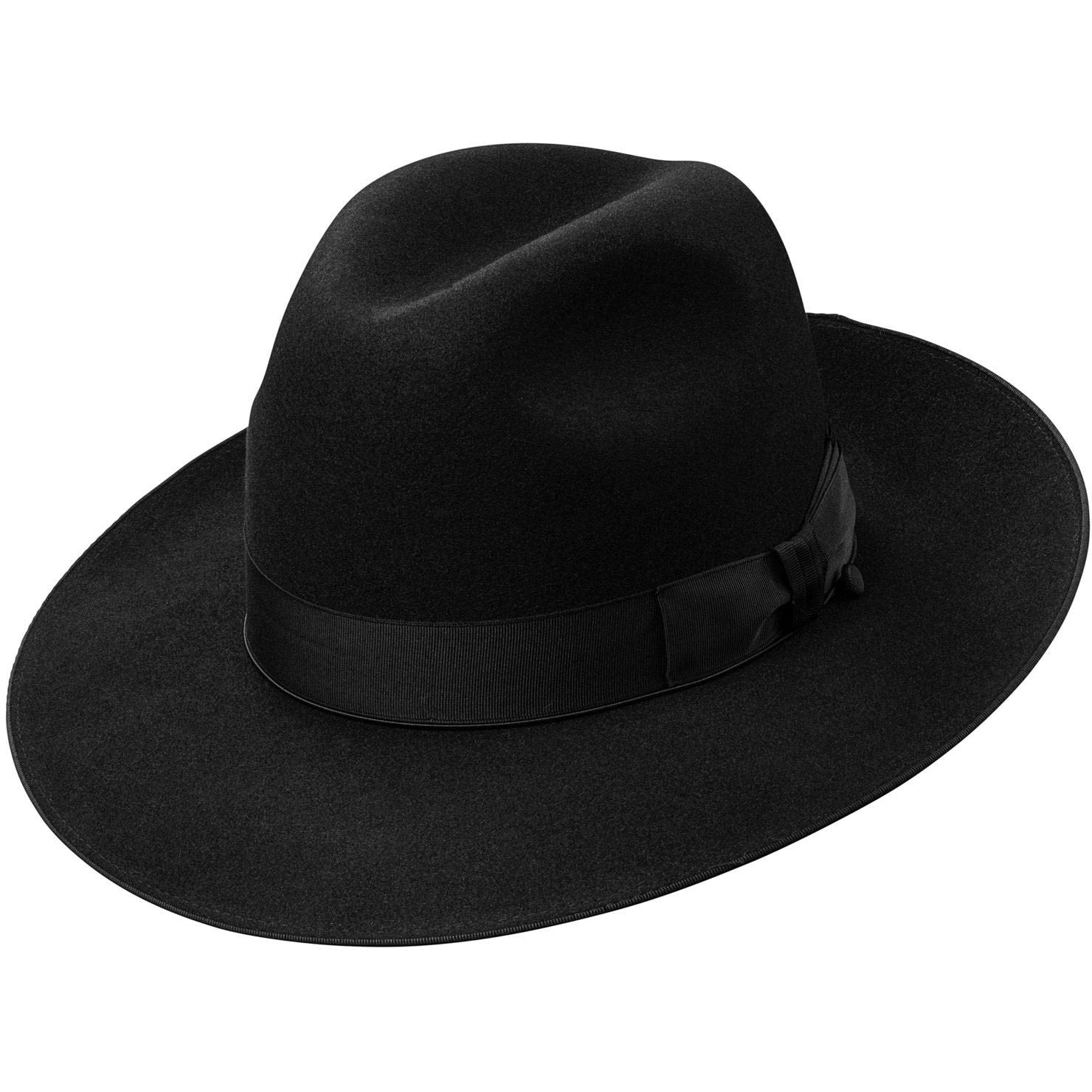 d281f9fb4d492 Titanium II Wide Brim Fedora by Selentino – Levine Hat Co.