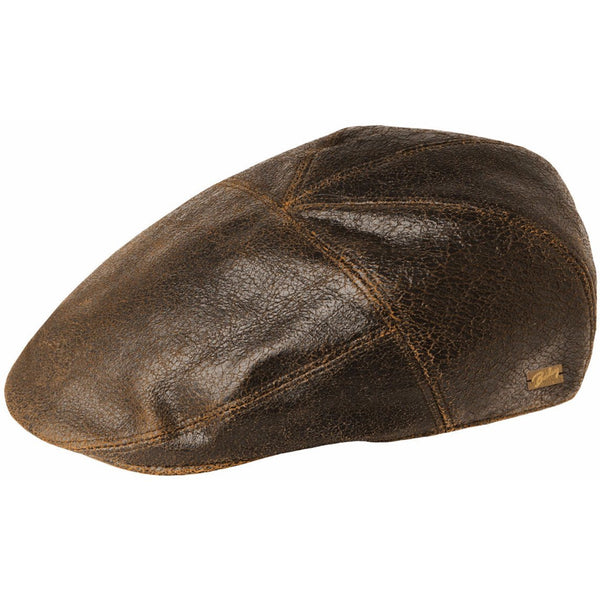 Bailey Taxten Leather Ivy Cap BROWN / L, Hats - BAILEY, Levine Hat Co.