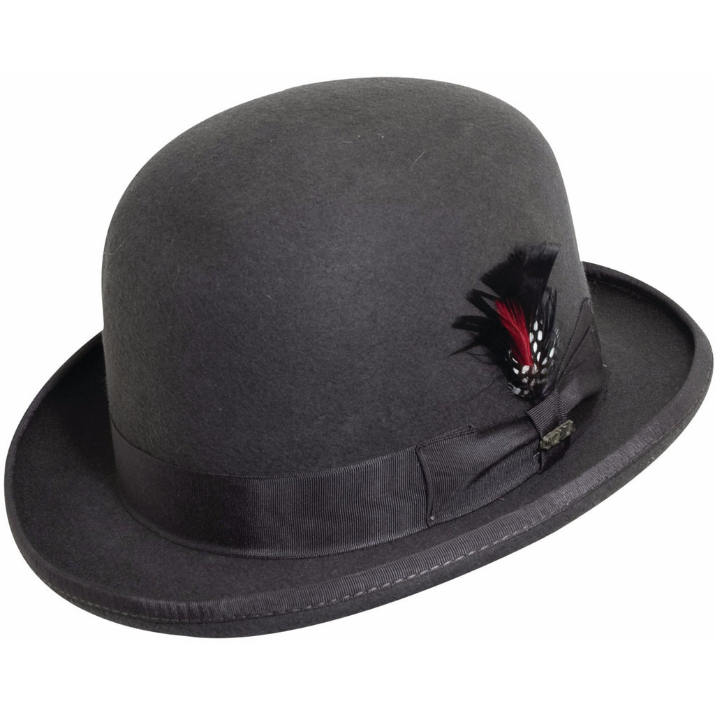 Scala Wool Felt Derby CHARCOAL / L, HATS - SCALA, Levine Hat Co. - 2