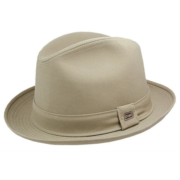 Dobbs Andes Cotton Rain Hat TAN / L, Hats - DOBBS, Levine Hat Co. - 1