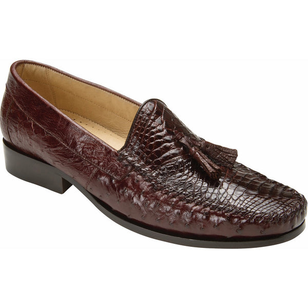 Bari Alligator & Ostrich Loafer by Belvedere Brown / 8, Shoes - BELVEDERE, Levine Hat Co. - 1