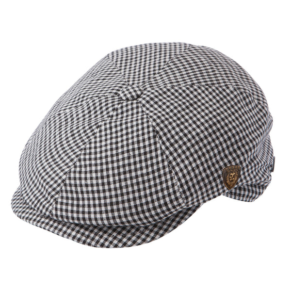 Dobbs Kosrae Newsboy Cap BLACK/WHITE / L, Hats - DOBBS, Levine Hat Co.