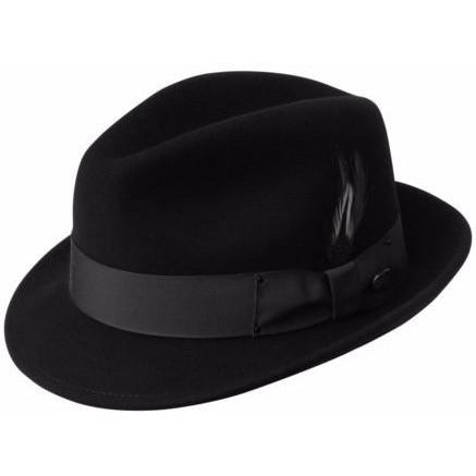 Bailey Tino LiteFelt Fedora BLACK / L, Hats - BAILEY, Levine Hat Co. - 3