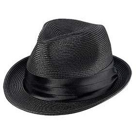 Broner Sicily Braid Fedora Hat BLACK / S/M, HATS - BRONER, Levine Hat Co. - 1