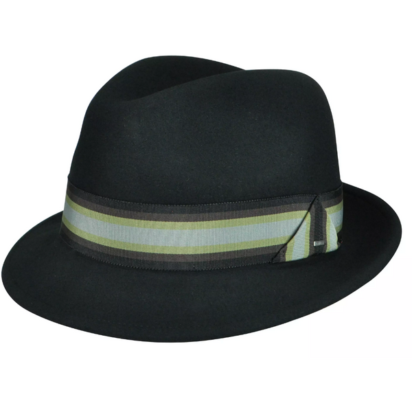 Goldring Classic Brim Litefelt Fedora With Stripe