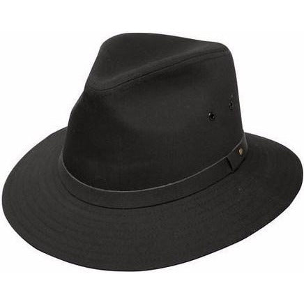 Dobbs Gable Waterproof Safari Hat BLACK / L, HATS - DOBBS, Levine Hat Co. - 1