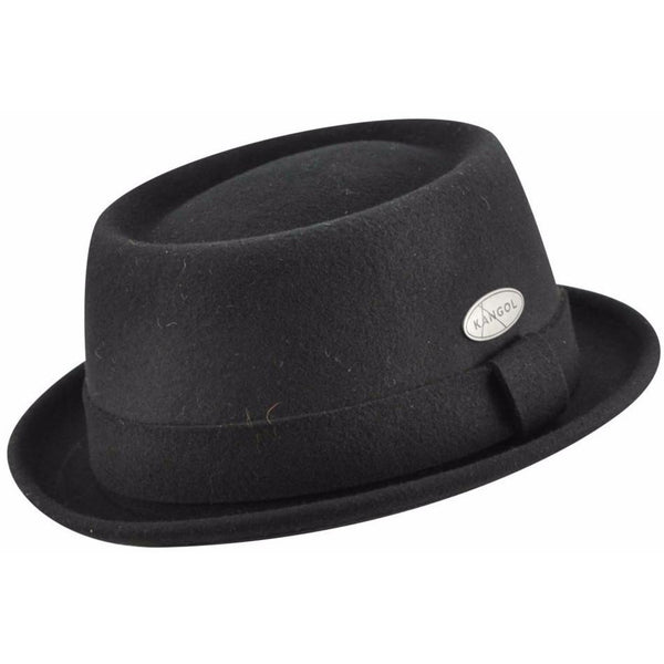 Kangol Lite Felt Pork Pie BLACK / L, HATS - KANGOL, Levine Hat Co. - 1