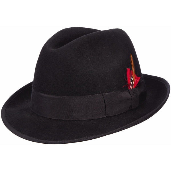Scala Detroit Wool Fedora BLACK / L, HATS - SCALA, Levine Hat Co. - 1