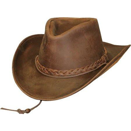 Henschel Weekend Walker Leather Hat BROWN / L, HATS - HENSCHEL, Levine Hat Co.