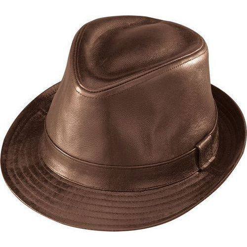 Henschel Leather Fedora BROWN / L, HATS - HENSCHEL, Levine Hat Co. - 1