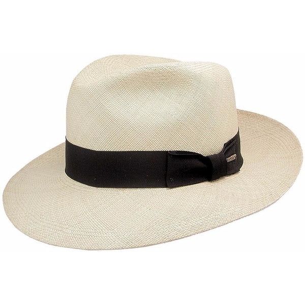 Stetson Center-Dent Panama Fedora NATURAL / 6 3/4, Hats - STETSON, Levine Hat Co.