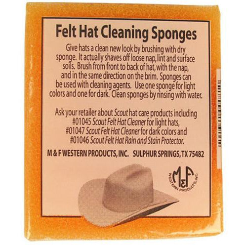 Felt Hat Sponge , Maintenance - M&F Western, Levine Hat Co.