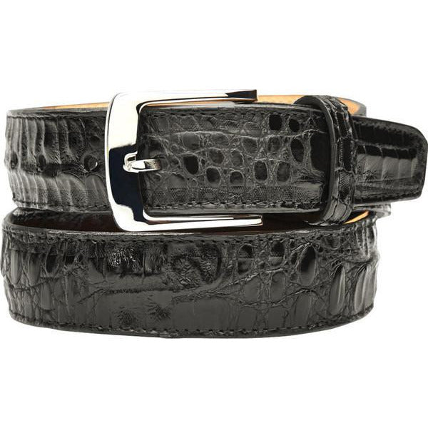"Belvedere Crocodile Belt Black / Fits up to 44"", Belt - BELVEDERE, Levine Hat Co. - 6"