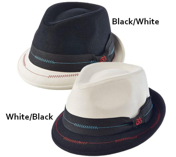 Dual Stingy Brim Two-Tone Fedora by Santana