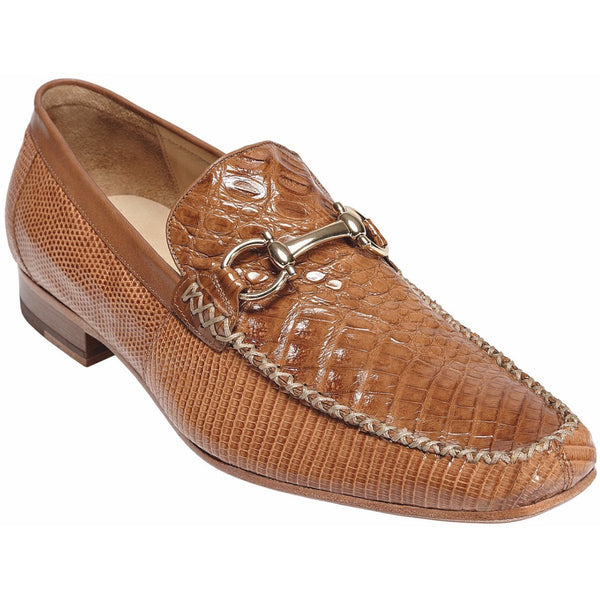 Italo Crocodile and Lizard Moccasin by Belvedere Saddle / 8, Shoes - BELVEDERE, Levine Hat Co. - 1