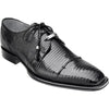 Karmelo Lizard Skin Oxford by Belvedere BLACK / 8, Shoes - BELVEDERE, Levine Hat Co. - 1
