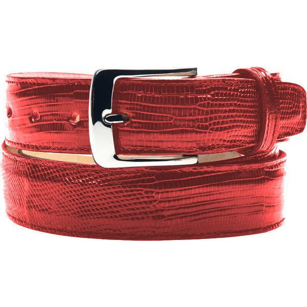 "Belvedere Lizard Belt Fits up to 44"" / Red, Belt - BELVEDERE, Levine Hat Co. - 3"
