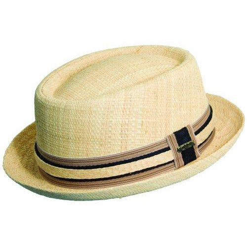 Scala Toyo Straw Porkpie NATURAL / L, HATS - SCALA, Levine Hat Co.